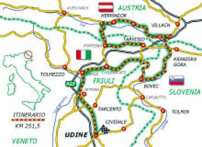 Cartina Dell Italia E I Suoi Confini.Il Tarvisiano La Zona Dei Tre Confini Dueruote