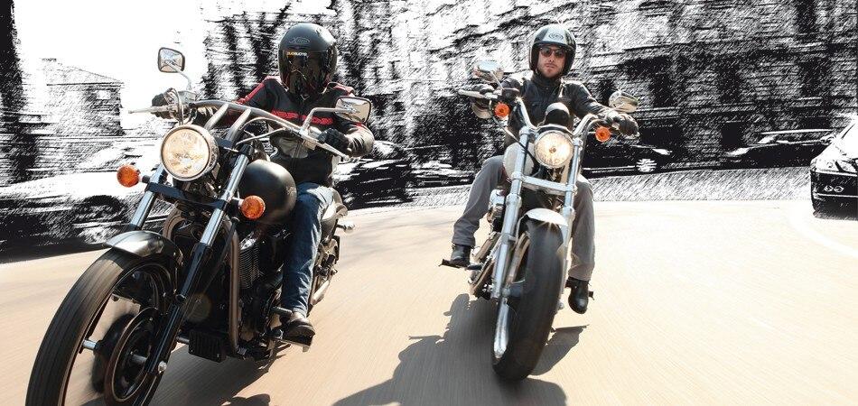 Kawasaki VN 900, Harley-Davidson Sportster 883, Honda VT