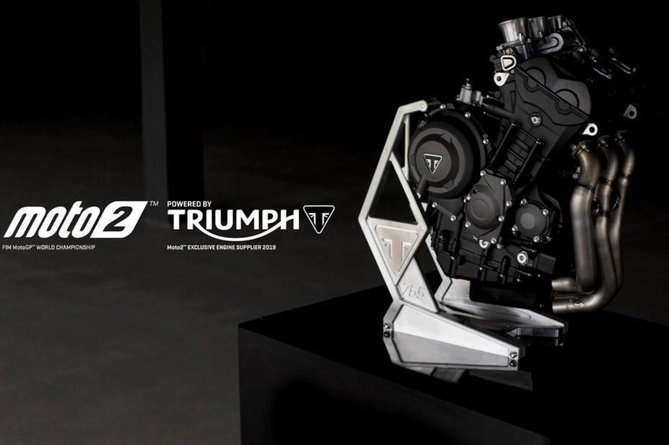 Moto2: Triumph fornitore dei motori dal 2019