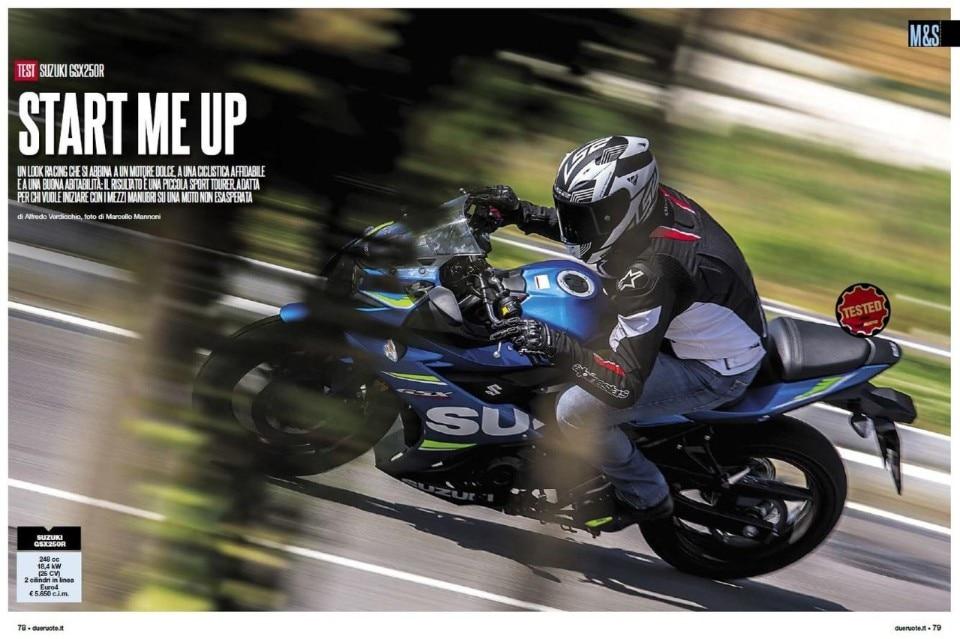 Su Dueruote di ottobre: Suzuki GSX250R