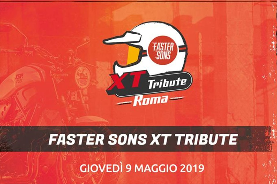 Yamaha Faster Sons XT Tribute a Roma