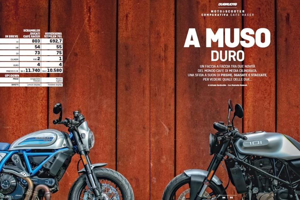 Scrambler Ducati Café Racer e Husqvarna Vitpilen 701: café racer a confronto