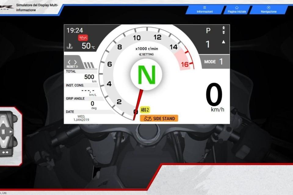 Ecco il simulatore del display della Honda CBR1000RR-R Fireblade