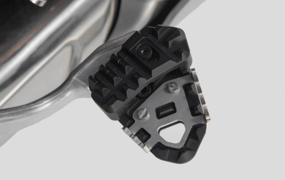 SW-MOTECH: nuove estensioni pedale freno per maxi enduro