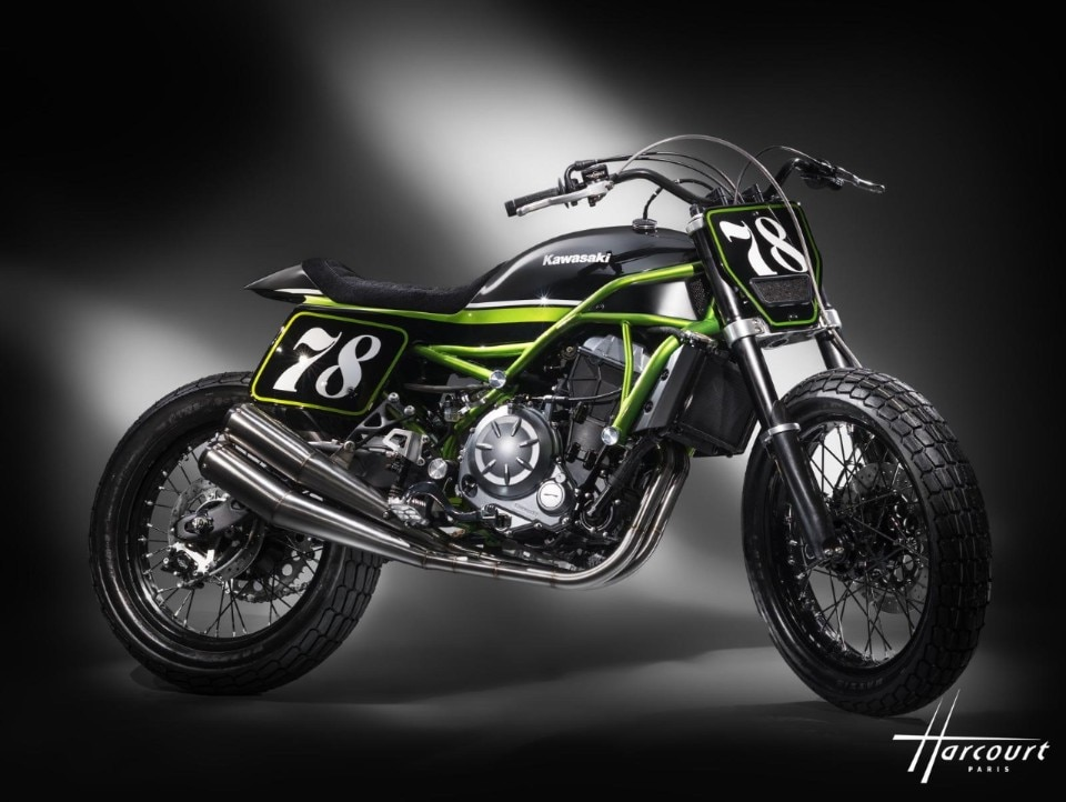 Kawasaki si dà al flat track con la Z650