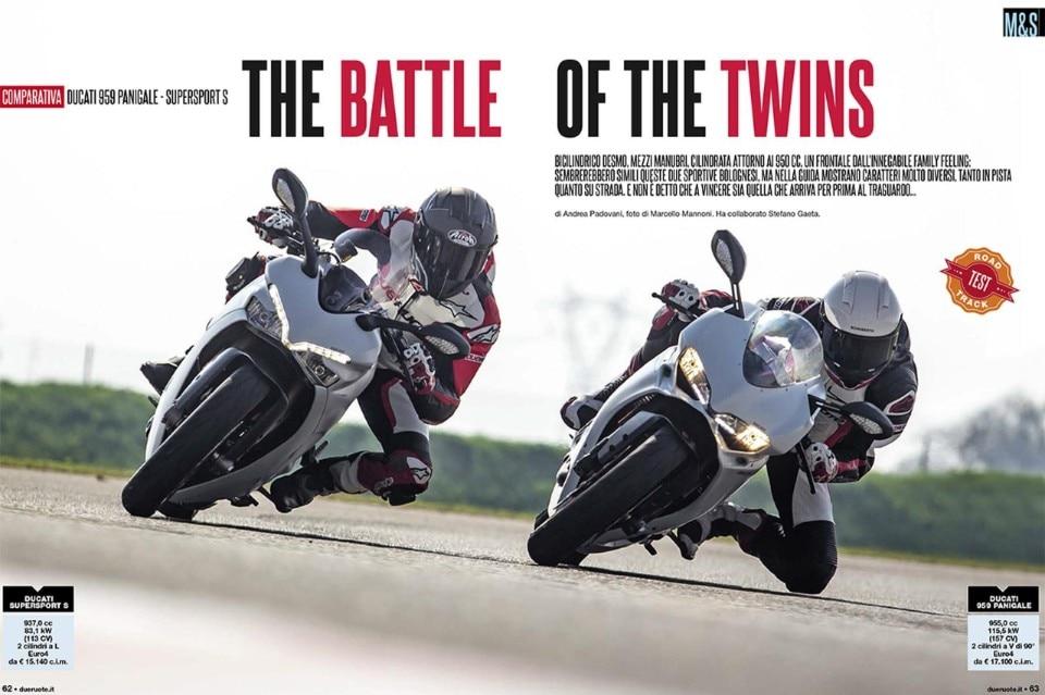 Su Dueruote di Gennaio: la comparativa Ducati 959 Panigale-Supersport S