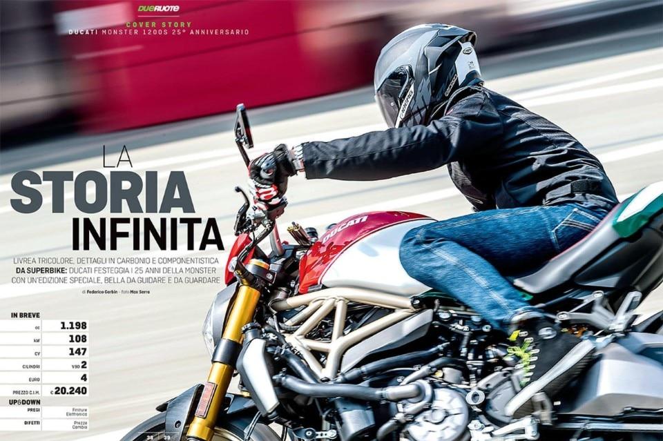 Su Dueruote di Settembre: Ducati Monster 1200S 25° Anniversario