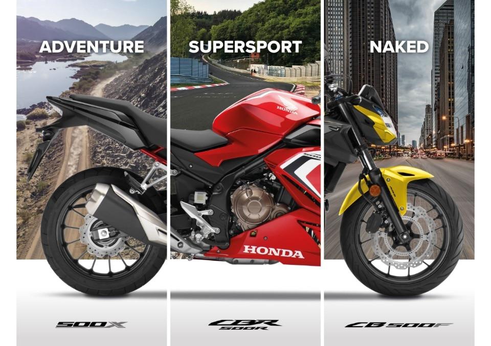 Honda: i nuovi modelli della gamma 500 per il 2021