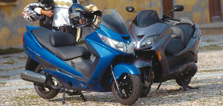 Suzuki Burgman 400 Type S Honda Forza Ex Prova Comparativa